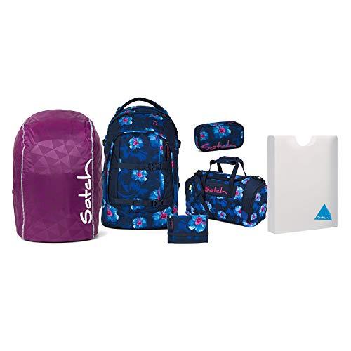 Satch Schulrucksack Set 6-TLG Pack Waikiki Blue blau