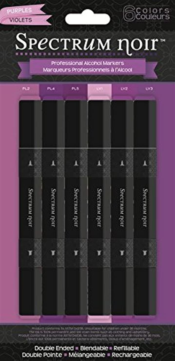 Crafter's Companion Spectrum Noir Alcohol Markers 6/Pkg Purples