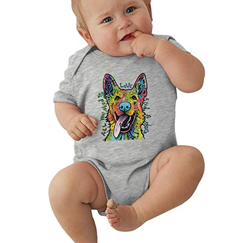Hikwi Funny Child Short Sleeve Pug Dog (2) Tee Boys Girl Bodusuit Outdoor Kids Infant Creeper