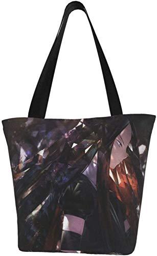 Nigel Tomm Bolsas de lona de Anime con cremallera Bolsas de supermercado reutilizables para compras Bolsas de hombro para regalo Diversión Cosplay Viaje