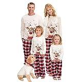 Inmindboom Conjuntos de Pijamas Familiares navideños a Juego con Perro, Conjunto de Pijamas Familiares navideños a Juego para Hombres/Mujeres/niños Ropa de Dormir (Niños-12T)