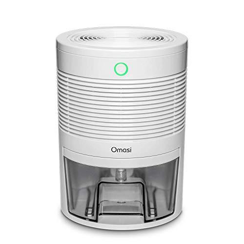 Omasi Dehumidifier Mini Electric 600ml, Portable Dehumidifiers Absorb Water 300ml / 24h, Automatic Shutdown,Ultra Quiet Air Cleaner for Home, Kitchen, Garage, Wardrobe, Basement