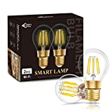 E27 LED Smart Retro Glühbirne, DORESshop A60 WLAN Lampe, Classic birne, Warmweißes Licht 2700K,...