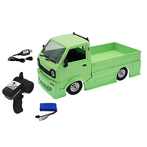 hndfhblshr Compatibile con WPL D12 1/10 2.4G Truck Crawler off Road Compatibile con Telecomando RC Brushed 260 Motor Climbing Car Toy Sterzo ad Angolo Ampio Sterzo 17G ( Color : 1pcs Battery )