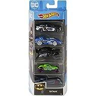 Hot Wheels Batman Vehicles, 5-Pack