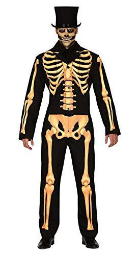 Fiestas Guirca Skeleton man kostuum pak voor horror vermomming