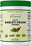 Best Naturals Certified Organic Barley Grass Powder 300 Grams - Contains Naturally Occurring nutrients, Including Chlorophyll, Vitamins, Minerals and Natural enzymes