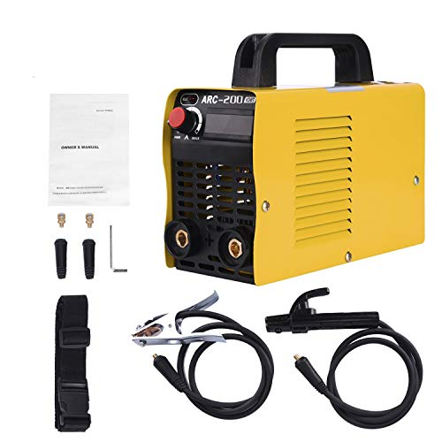 Welding Machine, 110V, 200Amp Power, IGBT AC DC Beginner Welder With Display LCD Use Welding Rod Equipment Tools Accessories … …