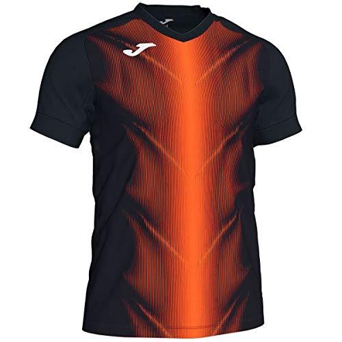Joma Olimpia Camisetas, Hombre, Negro/Naranja, XL