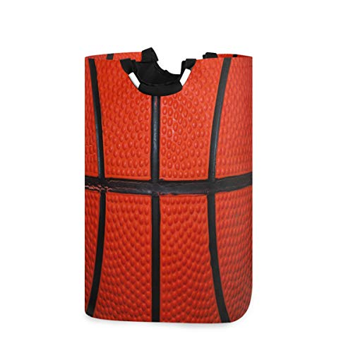 MNSRUU Korb Basketball Sport Ball Wäschekorb groß Aufbewahrungskorb mit Griffen für Geschenkkörbe, Schlafzimmer, Kleidung