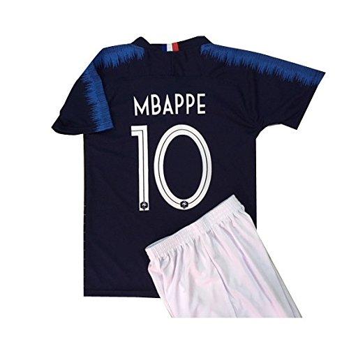 e43817a7381494 エムバペ ムバッペ サッカーユニフォーム 【2018モデル】 フランス代表 ホーム 青色 パリサンジェルマン 背番号