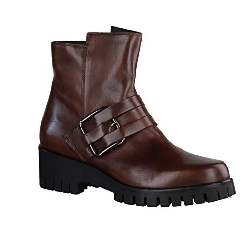 Donna Carolina 34.699.127 Braun - ungefütterte Stiefelette - Damenschuhe Modische Stiefelette/Boots, Braun, Leder (Delice Cuoio), absatzhöhe: 40 mm