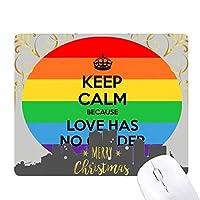 ゲイ、レズビアン、トランスジェンダーのバイセクシャルの旗 クリスマスイブのゴムマウスパッド