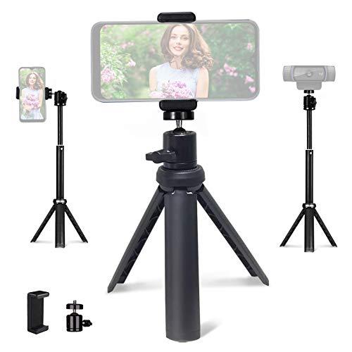 NexiGo Lightweight Mini Tripod for Camera/Phone/Webcam, Extendable Tripod Stand Compatible with NexiGo Logitech Webcam C920 C922 Brio iPhone/Android/Camera, for Vlogging, Live Streaming, Zoom Meeting