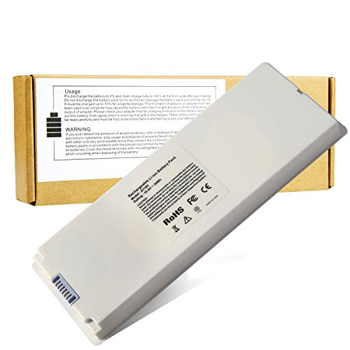 """New A1181 Battery for Apple 13"""" MacBook A1185 (Mid. / Late 2006, Mid. / Late 2007, Early/Late 2008, Early/Mid. 2009) Fits MA254 MA255 MB402 MA566 MA561 MA699 MA700 MB061 MB062 MB402 (Battery)"""