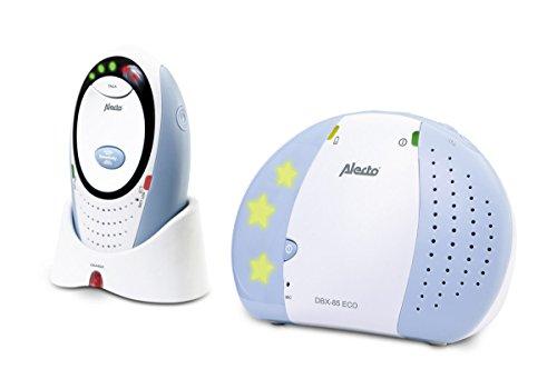 Alecto DBX-85 Digitale Eco DECT Babyphone (100% störungsfrei), hohe Reichweite von bis zu 300 Meter, Rücksprechfunktion, LED-Geräuschanzeige und Nachtlicht