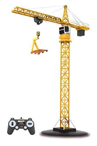 Jamara 405109 - Turmdrehkran Liebherr 2,4G - Lasthaken auf und ab, Laufkatze vor und zurück, Endlose Turmdrehung im und gegen den Uhrzeigersinn