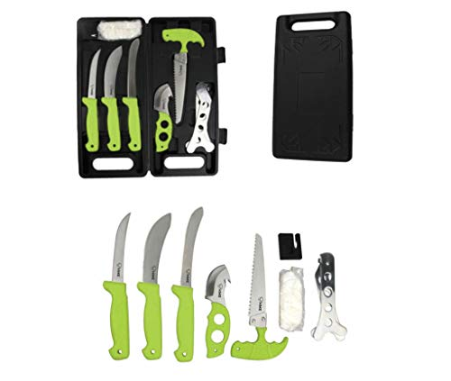 knife for field dressing deers HME 9 Piece Deluxe Field Dressing Kit -Rubberized Handles- Stainless Steel-with Carrying Case