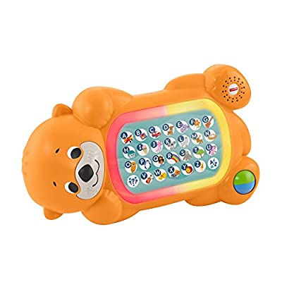 Fisher-Price Linkimals A to Z Otter - Interactive Educational Toy with Music and Lights for Baby Ages 9 Months & Up
