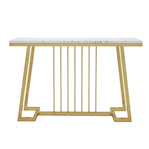 ZzheHou Konsolensofatische Moderner minimalistischer Veranda-Tisch-Wohnzimmer gegen den goldenen Veranda-Kabinett des Wandmarmors (Farbe : Gold, Size : 100x30x83cm)