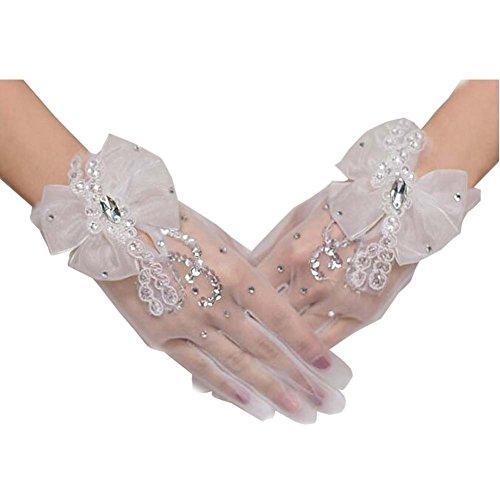 Gants de dentelle courte Gants de mariée mariage Gants de dentelle de coude