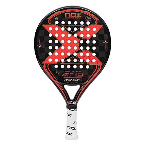 NOX Raquette de Padel AT10 Pro Cup Carbon, Sports, Noir/Rouge, 45 X 3. 8 x 25 cm