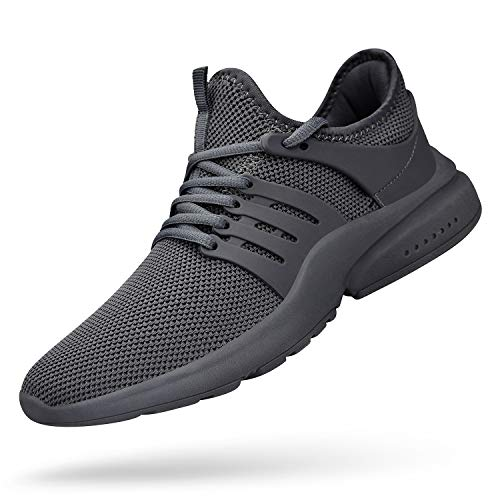 Feetmat Men's Athletic Shoes Lightweight Sneaker Walking Tennis Slip On Shoes Wide Fashion Sneakers Barefoot Running Shoes Grey 8.5M