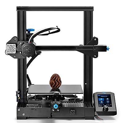 Latest Creality Ender-3 V2 FDM 3D Printer Upgraded Version of Ender-3 Pro: Carborundum Glass Bed, Silent Motherboard, Belt Tensioner, Extruder Knob, Build Volume 220 x 220 x 250mm, Ideal for Beginners