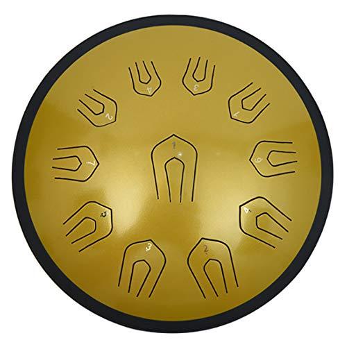 C Key Percussion Steel Drum Kit | 18 Zoll Double 11 Tone Carbon Steel Zungentrommel | Schlaginstrument | Harmonic Drum Handpan mit Schlägeln für Meditation/Yoga/Zen | Ätherische Trommel