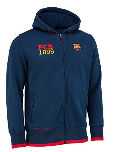 FC Barcelona Kapuzenjacke mit Reißverschluss Barça – Offizielle Kollektion Kindergröße für Jungen 10 Jahre blau