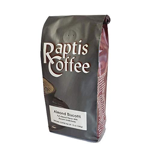 Raptis Coffee Roasters Almond Biscotti Ground Coffee 12oz bag
