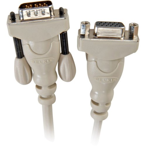 Belkin 6' Hddb 15 Vga Male To Female Monitor Extension Cable (f2n025-06) -