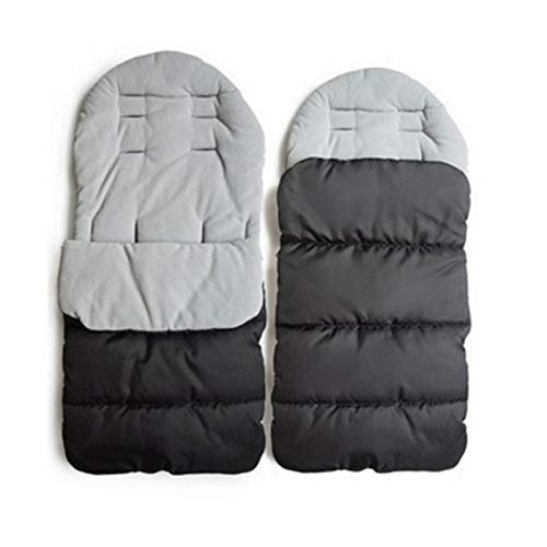Saco de Dormir Ligero Cochecito de bebé cálido cómodo Bolso de sueño recién Nacido niño pies Cubierta Camping Senderismo Actividades al Aire Libre saqueo de sueño (Color : Black)