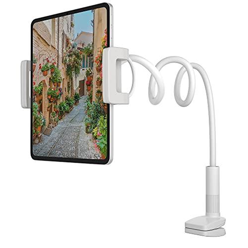 MOTTERU (モッテル) フレキシブルアームスタンド ベッド 寝ながら 13インチまで対応 サポートひも付き iPhone/iPad/スマホ/Android/タブレット/Nintendo Switch 日本メーカー ホワイト MOT-SPSTD04-WH