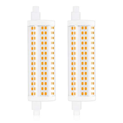 Bonlux 20W Regulable R7S LED 118MM con 2200LM, Bombilla Lineal Reemplazo de 200-250W Bombilla Halógena, 360 Grados de Iluminación para Lámpara de Pie (Luz Cálida 2700K, 2-Unidades)