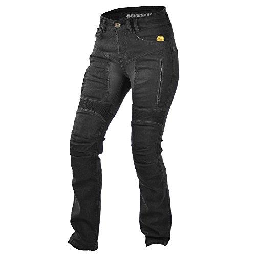 Trilobit Motorrad Damen Jeans,schwarz, 32L