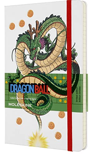 """Moleskine Limited Edition Dragon Ball Z Notebook, Hard Cover, Large (5"""" x 8.25"""") Ruled/Lined, Dragon, 240 Pages (8053853603784)"""