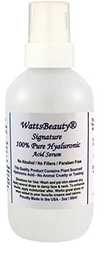 Watts Beauty Signature 100% Pure Hyaluronic Acid Wrinkle Serum - Best Hyaluronic Acid for Face - No Parabens - Perfect Plumping Moisturizer for Wrinkles, Fine Lines, Dry, Aging Skin 2oz by Watts Beauty