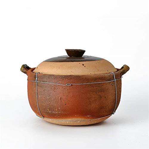 ZAIZAI Sopa Caliente Olla De Cocción De Arroz Cerámica De Carbón Hogar Estufa De Barro Antigua Estufa De Estofado Cacerola Cacerola (Size : 2.5L)