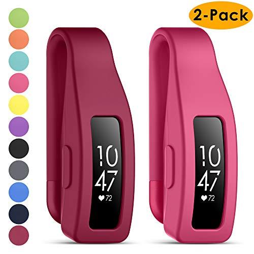 KIMILAR Clip Compatible avec Inspire/Inspire HR, [2 Pièces] Silicone Acier Inoxydable Coque Bracelet de Remplacement Clip Accessoire pour Inspire/Inspire HR Tracker Fitness