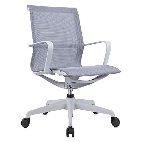 Bürostuhl Home, Computerstuhl Student Aufzug Drehstuhl Meeting Personal Mesh Stuhl Atmungsaktiven Sitz Grey