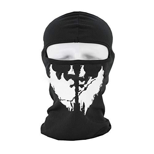 ABEQW Halloween Maske Outdoor-Kopfbedeckung Schädelmaske Halloween-Maske, geeignet für Männer und Frauen-Muster 2
