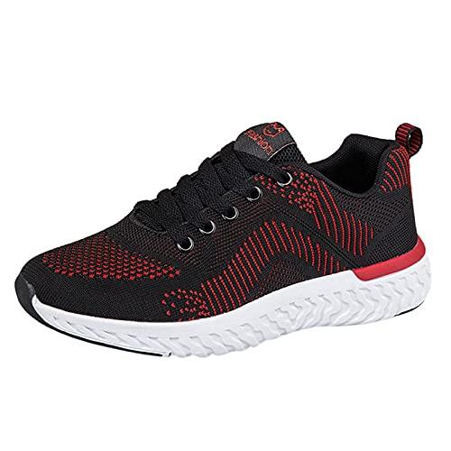 Zapatillas de Deporte Mujer Running Zapatos para Correr Antishock Gimnasio Sneakers Deportivas Transpirables Tennis Mujer(A16_Red,36)