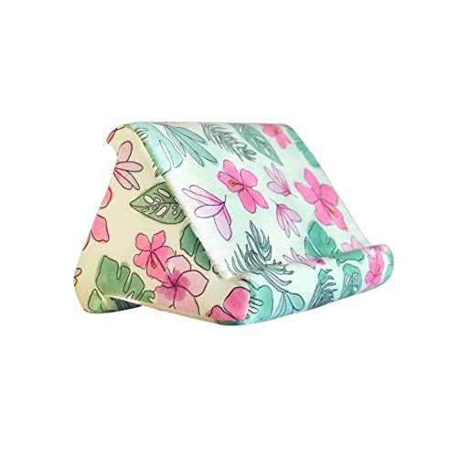 Floral Cheese Plant Tablet and Book Cushion Pillow Stand Holder