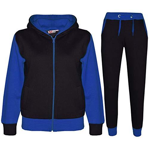 A2Z 4 Kids A2Z 4 Kids® Kinder Trainingsanzug Mädchen Jungen Designer Plain Kontrast - T.S Plain 101 Royal 7-8