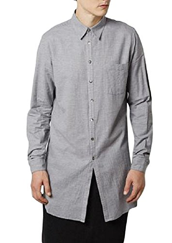 Forme d'Expression Men's Gray Long Shirt (50)