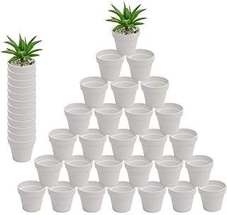 3 inch Ceramics Planter, Indoor Flower Potted Modern Decorative Garden Pot and Drain All Indoor Plants, Flowers, Herbs, Af...