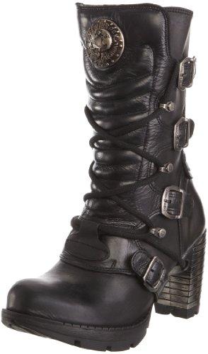 New Rock M.TR003-S1 - Botas de cuero para mujer, color negro, talla 41 EU