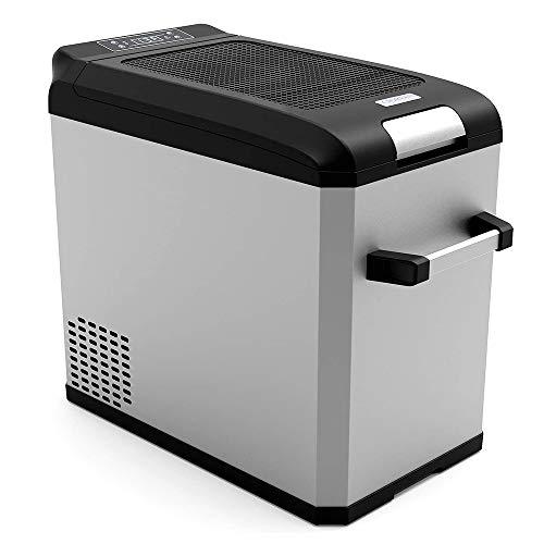 Refrigerador Portátil De 44 Cuartos (42 litros), Refrigerador Portátil Eléctrico De Compresor, Refrigerador/Congelador para Camping, Viajes, Exteriores Y Hogar 12 / 24V / 110-240