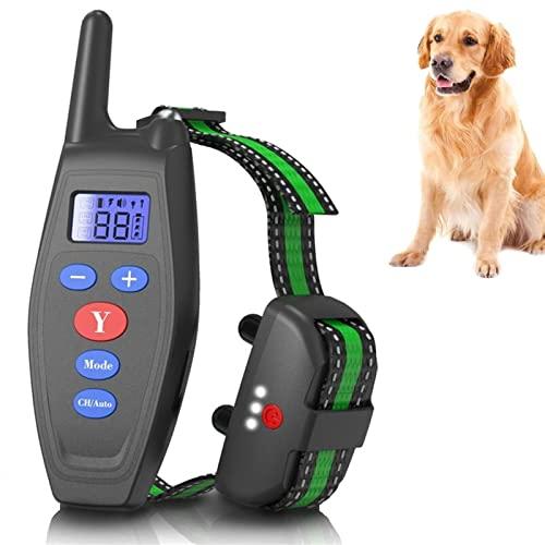 SUTTZZS Elektrisches Erziehungshalsband Hund, Einstellbar Wasserdichtes Anti-Barking Gert Mit Fernbedienung 2700ft, Anti Bellen Gerät Für Kleine Und Mittelgroße Hunde A